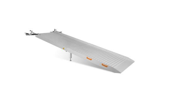 Opklapbare oprijplaat gesloten raster 100 cm
